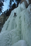 Geoff leading pitch 3 of Icy BC