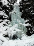 All icicles and mushrooms on Nepopekum Falls