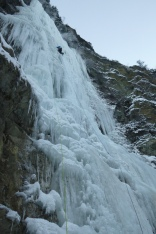 Climbing Carl's Berg (Jan 3) in challenging, bold conditions