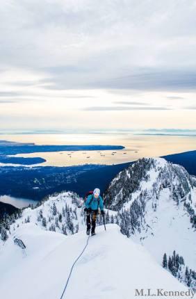 Coming up the ridge, Crown Mountain (Matt Kennedy)