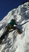 Leading snowy ice on Entropy (Kat Voyer)