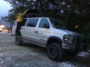 The Beast! Francis' 4WD climbing wagon (Adrian Burke)
