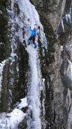 Dave Moroles on steep thin ice (Scott Welch)