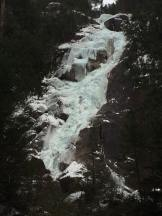 Shannon Falls on Monday. Lots of ice, but also lots of water and wet snow (Drew Charness)