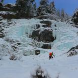 Easier ice approaching Capricorn (Wayne Wallace)